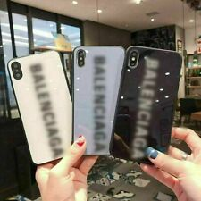 Fashion Designer Phone Tempered Glass Case For iPhone 7 8Plus X XR XS 11 Pro MAX