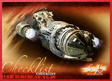 Joss Whedon's FIREFLY - Card #72 - Checklist - Inkworks 2006