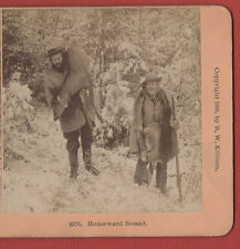 """""""B.W.KILBURN""""  STEREOVIEW- HOMEWARD BOUND.1888."""