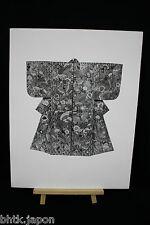 Set di 3 incisioni di foto kimono il carta spesso - Stampa del 1940 - 697071