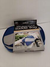 Waterproof Bicycle Bag With Phone Holder, Waterproof Saddle Bag. Blue & Gray