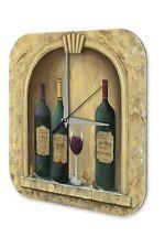 Horloge murale Tour Du Monde  Bouteille en verre de vin Imprimee Acrylglas