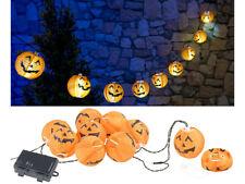 """Guirlande à LED 10lampions """"Citrouilles d'Halloween"""" - À piles - Pearl"""