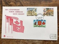 Isle Of Man 1978 FDC, 50Th Anniversary North American Manx Society