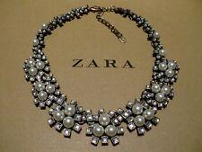 Zara Ethno mega statement Kette necklace boho top altgold Steine selten rar