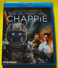 Chappie (Blu-ray, 2015) - Like New - NO DIGITAL & NO SLIPCOVER