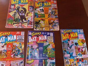 Giant Batman Annual Lot 3,4,5,6,7