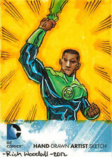 DC Comics New 52 Sketch Card by Rich Woodall of Green Lantern