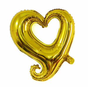 Large Heart Foil Helium Balloons Decor Valentines Day Wedding Party Girlfriend