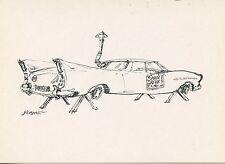 ILLUSTRATEUR / KERLEROUX VOITURE / DESSSIN D'HUMOUR 1974 AVIGNON / AUTOMOBILE