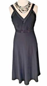 *BNWT*AUSTIN REED Black Cocktail Evening Dress Sz 14 UK RRP £179 / b5