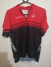 Castelli Cycling Jersey XXXL Short Sleeve Team Red Black Mens Long Top PRISTINE