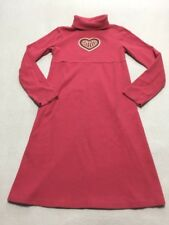 Gymboree 12 Gingerbread Girl Pink Sequin Heart Turtleneck Dress Long Sleeve