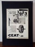 Pubblicità originale CEAT anni '60 rifilatura da rivista in passepartout