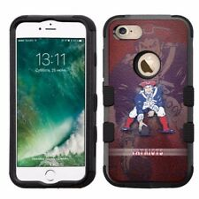 for Apple iPhone 8 Impact Armor Rugged Hard Hybrid Case New England Patriots #RB