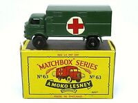 Matchbox Lesney No.63a Ford Service Ambulance In B4 Series MOKO Box (1st ISSUE)