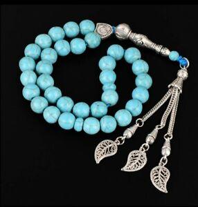 Islamic tasbeeh 33 bead 10mm turquoise prayer beads tasbih islam beads misbaha
