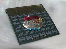 Estate JJ Artifacts 1986 Small Painted Silvertone Noah's Ark  Hat Pin Tie Tac–