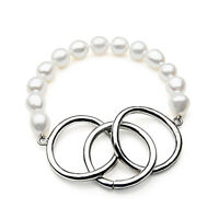 9-11mm White Cultured Freshwater Pearl Bracelet Pacific Pearls® Retirement Gifts