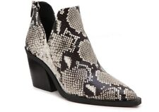 VINCE CAMUTO Snakeskin Print Leather Ankle Heel Boots - Size US 8.5 NEW