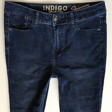 Ladies M & S Indigo Collection Blue Cords Size 8 S W28 L27 (388)
