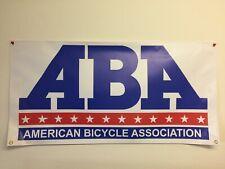 old school BMX BIKE BANNER aba  4FT X 2FT  mancave garage shop
