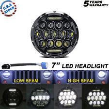 7'' Osram 105W Round LED Headlight Hi-Lo Beam Bulb For Jeep Wrangler JK TJ Black