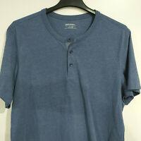 UNTUCKit Men's XXL Solid Blue Short Sleeve Polo Shirt Golf 2XL T-Shirt Tee