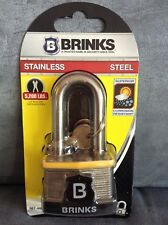 """BRINKS STAINLESS STEEL #667-44811 PROMAX SECURITY LOCK WITH KEYS 1-3/4"""""""