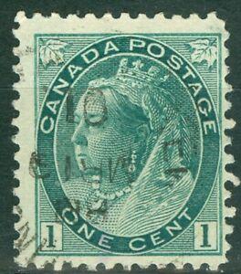 Canada 1898 - 1¢ Grey Green Queen Victoria Numeral Issue - Sc#75