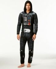 Briefly Stated Star Wars Darth Vader Hooded One Piece Pajamas Black Mens Small