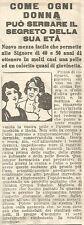 W8260 Crema TOKALON - Pubblicità del 1926 - Vintage advertising