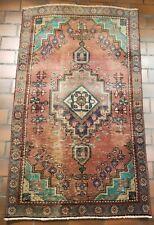 VINTAGE COLLECTIBLE PERSIAN WOOL HAND LOOMED KURDISH BIDJAR 2.11X4.10FT RUG K37
