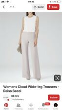 Reiss Becci Nude Blush Crepe Trousers
