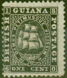British Guiana 1863 1c Black SG51 Fine & Fresh Unused