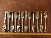 """International Silver Co Royal Danish Sterling Silver Dinner Fork 7 1/2"""" long"""