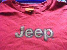 Jeep LOGO red 4XL short sleeve shirt