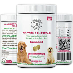 ANTI ITCH SUPPLEMENT FOR DOGS 60 SOFT CHEWS VETERINARIAN FORMULATED