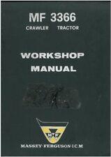 Massey Ferguson MF3366 Crawler Dozer Loader Workshop Service Manual - MF 3366