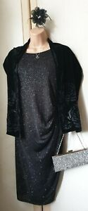 Bnwot Size 18 Black/Sparkles Mother Bride/Wedding Guest Outfit (& Accessories)
