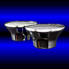 Dual Velocity Stack Chrome Air Cleaners For SBC 283 327 350 383 400
