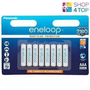 8 Panasonic eneloop Rechargeable AAA HR03 Batteries Blister Pack 1.2V 800mAh Neu