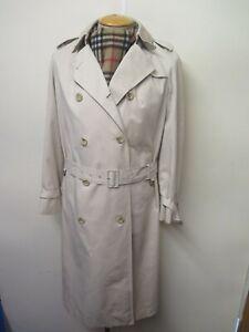 Vintage Aquascutum Beige Raincoat Coat Mac Trenchcoat Raincoat Size UK 8 Euro 36