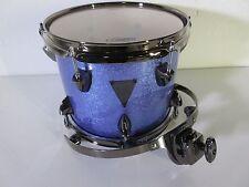 "OCDP Avalon Series Moody Blue Sparkle Rack Tom 10X8"" Maple w/Black Nickel Mount"