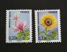 FRANCE TIMBRES PREOBLITERES FLEURS ORCHIDEES 2008 N° 257/258 NEUFS