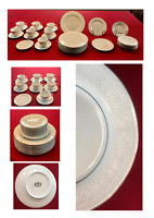 VINTAGE Brentwood Fine China Dinnerware WHITE LACE 32-Piece Set JAPAN