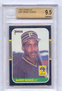 1986 BGS 9.5 BARRY BONDS DONRUSS SUPER CARD