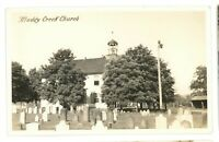 RPPC Muddy Creek Church SWARTZVILLE PA Lancaster County Real Photo Postcard 2