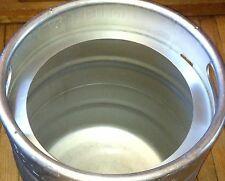 """Stainless Steel Beer KEG PLASMA CUT Top 10-11"""" OPENING 15.5 G Brew Kettle Keggle"""