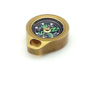 EDC Small Brass Compass Outdoor Emergency  Pocket Tools Key Chain Accessories